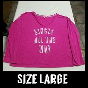 VS Oversized Sleep Shirt Size Large